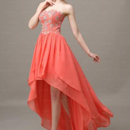 peach prom dresses high low prom dresses prom dresses on