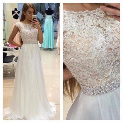 Lace See Through Evening Prom Dress..