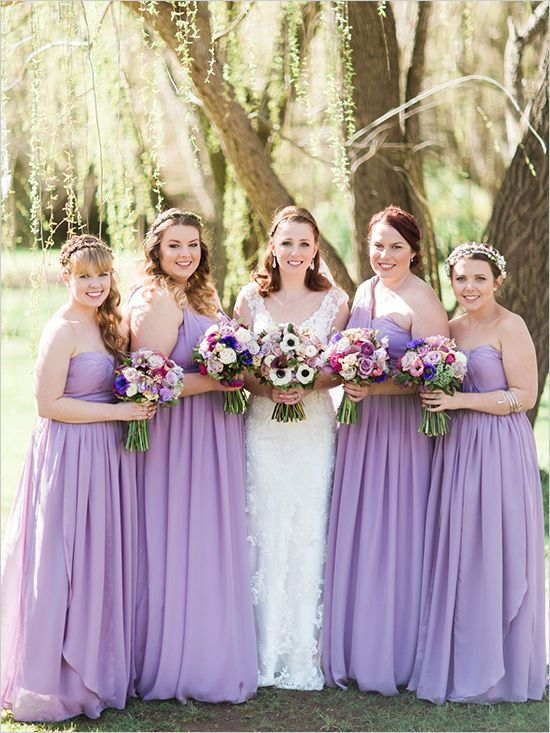 Lilac Bridesmaid Dresses, Chiffon Bridesmaid Dress, Long ...