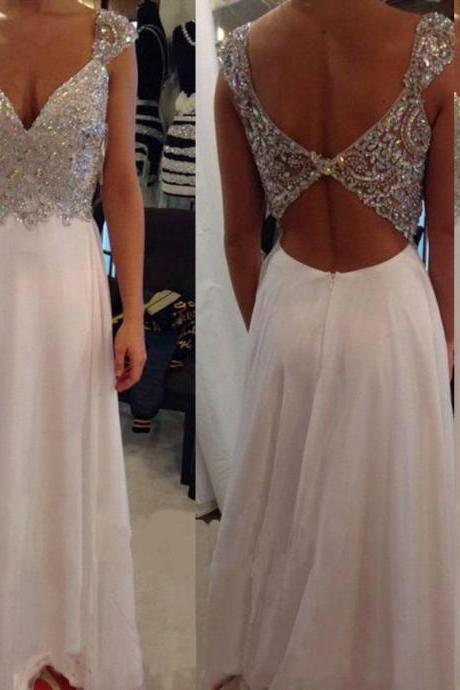 White prom dresses, sexy prom dress, long prom dresses, cheap prom dresses, 2016 prom dresses, custom prom dresses, dresses for prom, CM698