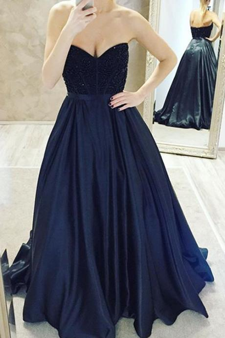 Royal Blue Prom Dress, A line Prom Dress, Unique Prom Dress, 2016 Prom Dress, Sexy Prom Dress, Gorgeous prom dress, 17157