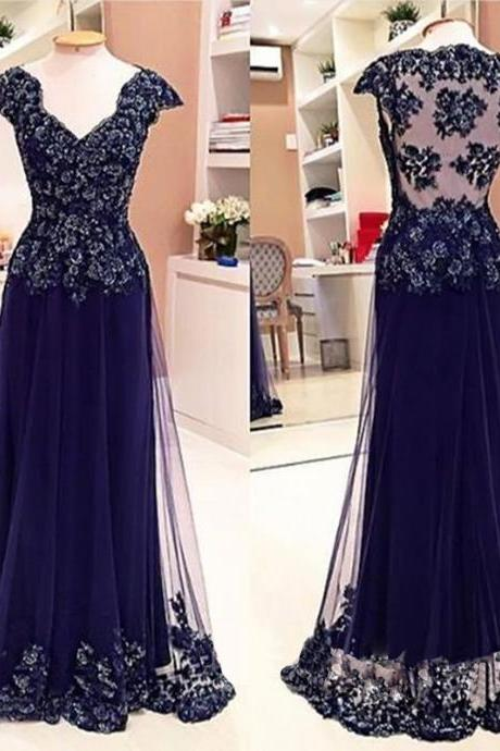 Blue Lace Prom Dresses, Sexy See through Prom Dress, Sexy Prom Dress, 2016 Prom Dress, dresses for prom, fashion prom dress, unique prom dress. CM865
