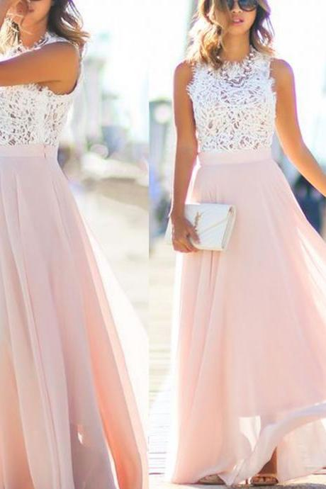 Blush Pink Lace Prom Dress, 2016 Long prom Dress, Lace Prom Dress, dresses for Prom, custom prom dresses 2016, cheap prom dresses, CM877