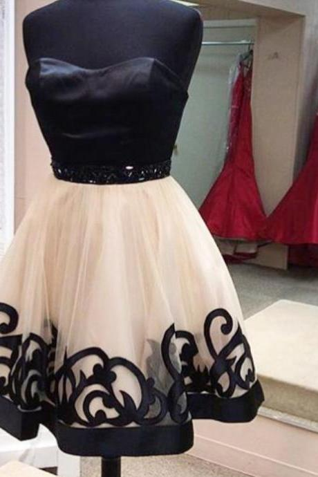 Black homecoming dress, Unique homecoming dress, short homecoming dresses, 2016 homecoming dress, short prom dresses, homecoming dress, CM923