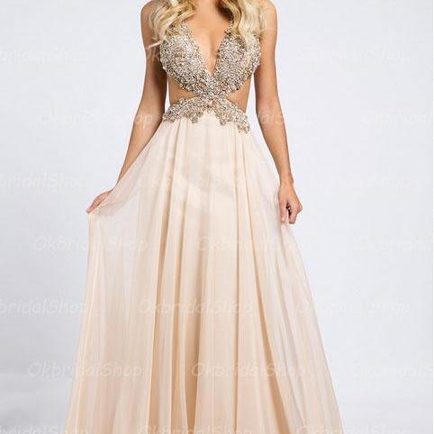backless prom dress, rhinestone prom dress, sexy prom dresses, chiffon prom dresses, 2015 prom dresses, sexy prom dresses, dresses for prom, CM238