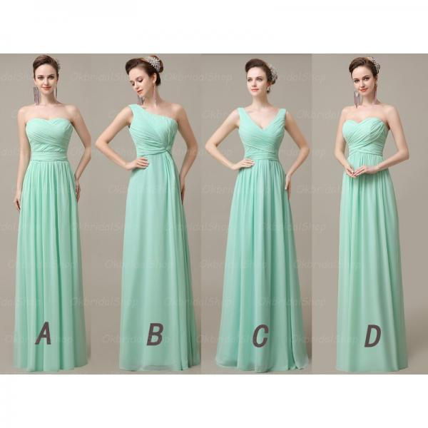 Mint Bridesmaid Dresses, Mismatched Bridesmaid Dresses, Short ...