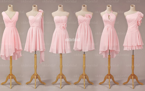 Pink Bridesmaid Dresses, Mismatched Bridesmaid Dresses ...
