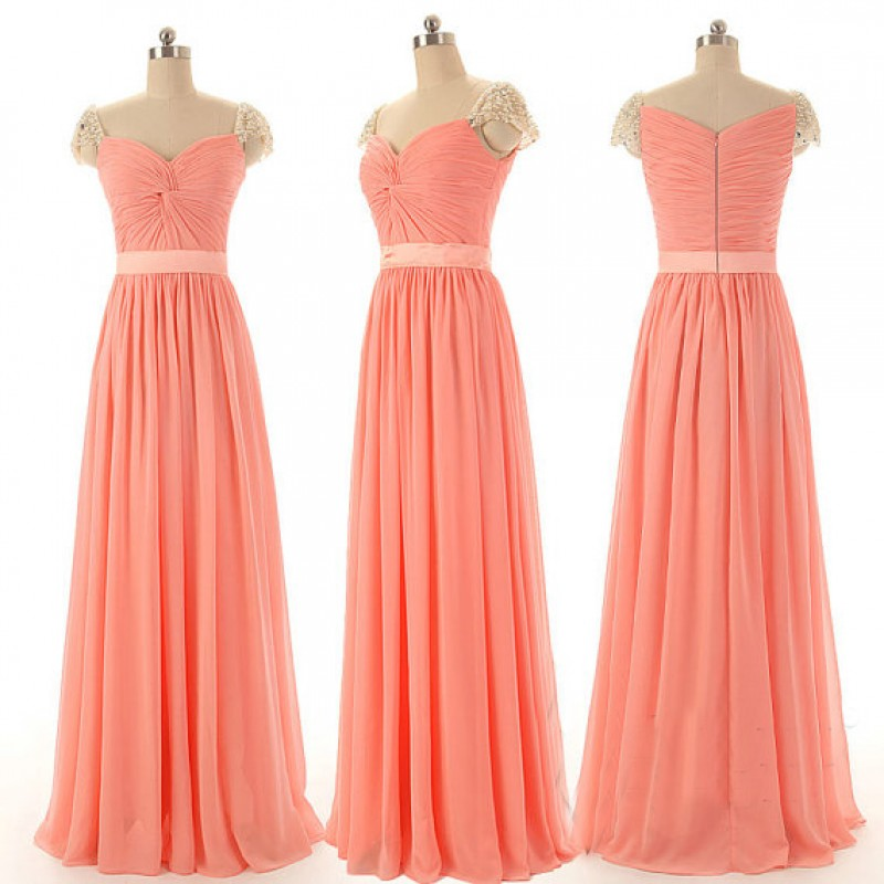Peach Bridesmaid Dresses Simple Bridesmaid Dresses Cap